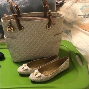 MK purse/ballet slipper.